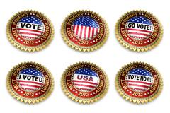 Mitt Romney presidential election 2012 buttons - stock illustration