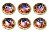 Mitt Romney presidential election 2012 buttons Stock Illustration