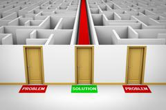 Solution concept Stock Illustration