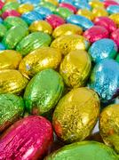 chocolate eggs. traditional easter sweet. - stock photo