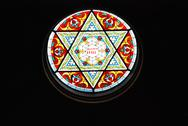 Stock Photo of Stain Glass Star of David