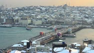 Istanbul in winter sunset Stock Footage