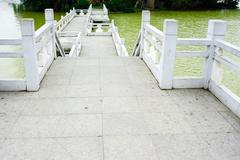 chinese traditional style bridge - stock photo
