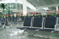 departure hall - stock photo
