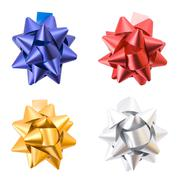 collection of gift bows isolated on white background. - stock photo