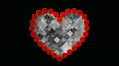 Digital heart Stock Footage