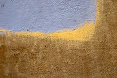 Blue/ Yellow Abstract Wall Art Stock Photos
