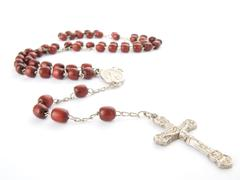 Rosary isolated over white background Stock Photos