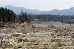 Valley of Destruction-Japan Tsunami Stock Photos