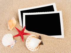 Stock Photo of pictures in a beach concept. vacation memories..