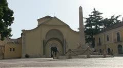 Italy - Campania - Benevento - Santa Sofia Church Stock Footage