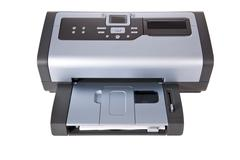 Inkjet printer isolated on a white background Stock Photos