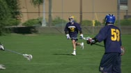 Stock Video Footage of lacrosse game, run and scrimmage
