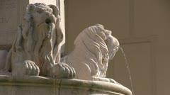 Italy - Campania - Benevento - Santa Sofia Church - Fountain Stock Footage