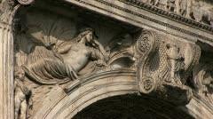 Italy - Campania - Benevento - Arch of Trajan Stock Footage