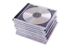 Dvd case isolated on a white background Stock Photos