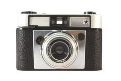old, vintage film camera . - stock photo