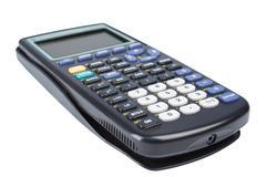 Scientific calculator isolated on white Stock Photos