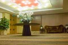 entrance hall of modern hotel - stock photo