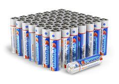Set of AA size batteries - stock illustration
