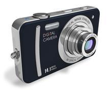 Compact digital camera Stock Illustration