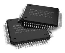 Computer microchips - stock illustration