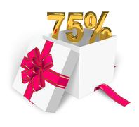 75% discount concept - stock illustration