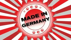 Made in Germany Stock Footage