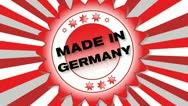 Stock Video Footage of Made in Germany
