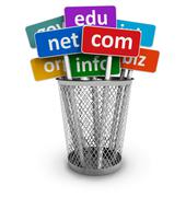 Domain names and internet concept Stock Illustration
