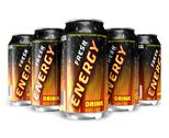 Stock Illustration of Energy drinks in metal cans