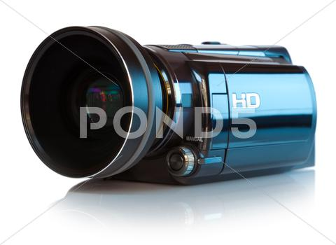 Stock photo of High definition camcorder