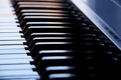 Synthesizer keyboard - stock photo