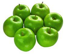 Fresh granny smith apples Stock Photos