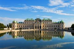 Summer Palace Belvedere in Vienna, Austria - stock photo