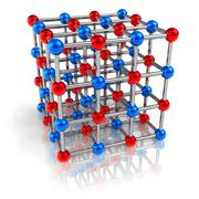 Molecular structure model - stock illustration