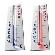 Set of thermometers Stock Illustration