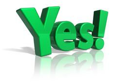 Yes! - stock illustration