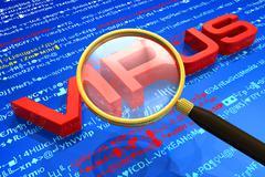 Antivirus protection concept Stock Illustration