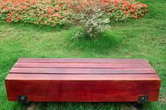 Stock Photo of bench in garden