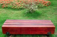 Stock Photo of bench in garden
