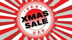 X Mas Sale Stock Footage
