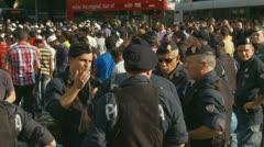 Rome demonstration, film, Innocence of Muslims (9) - stock footage