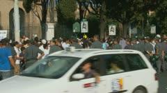 Rome demonstration, film, Innocence of Muslims (2) - stock footage