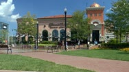 Stock Video Footage of Pittsburgh Town Square at South Side Works