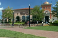 Pittsburgh Town Square at South Side Works Stock Footage