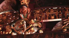 CARVINGS IN A CHINESE TEMPLE - stock footage