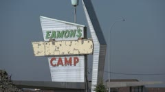 Eamons camp neon sign Stock Footage
