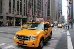 yellow suv taxi cab - stock photo