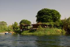 nile river near aswan, egypt - stock photo
